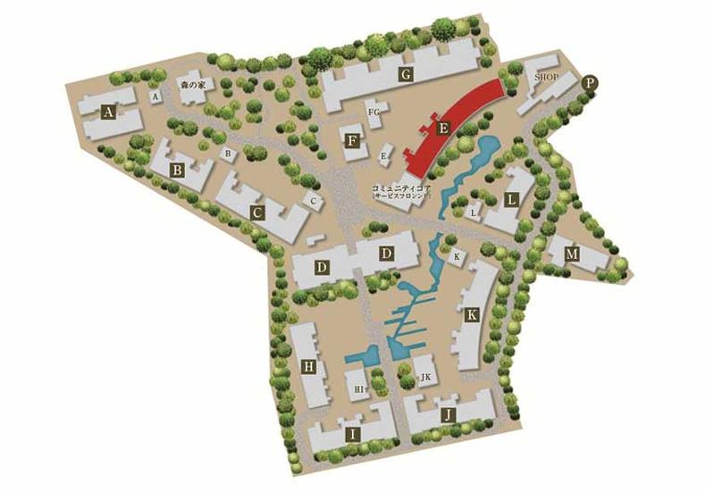 深沢ハウス E棟 敷地配置図 イメージ