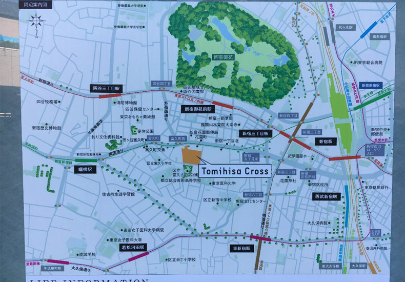 富久クロスコンフォートタワー 周辺地図 イメージ