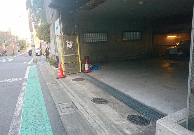 サンクタスガーデン目黒 駐車場入口 イメージ