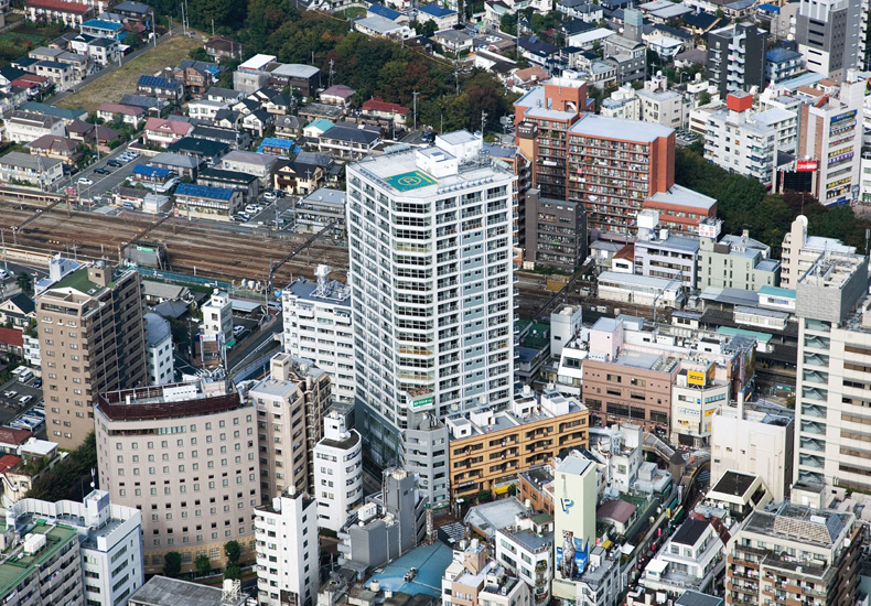 クレッセント三鷹ザ・タワー 空撮 イメージ
