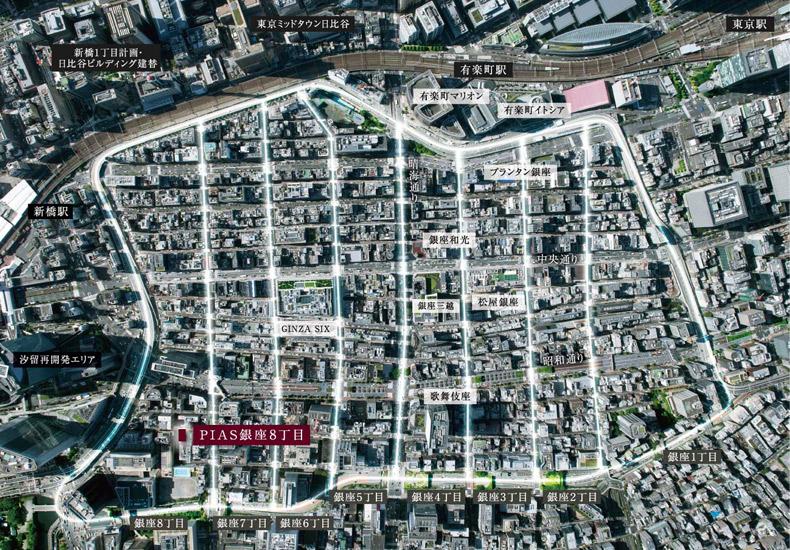 ピアース銀座8丁目 MAP イメージ