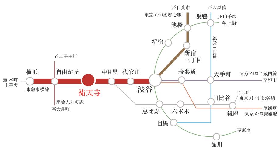 東横 線 路線 図 東急